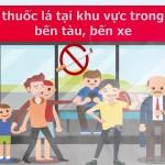 Cấm hút thuốc lá tại khu vực bến tàu, bến xe