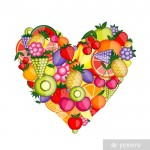 Energy fruit heart shape for your design